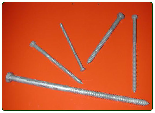 Lag Screws Steel Galvanized Stainless Steel and Bronze